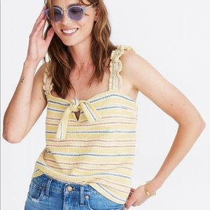 Madewell Texture & Thread Tie-Front Tank Top